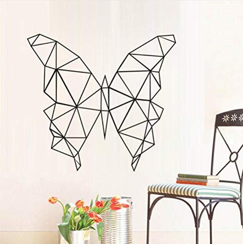 Kreative wandGeometrische Schmetterling Wandaufkleber Kinder Schlafzimmer VinylWandkunstAufkleber Wohnkultur Geometrie Serie Decals Wandkunst Für Schlafzimmer
