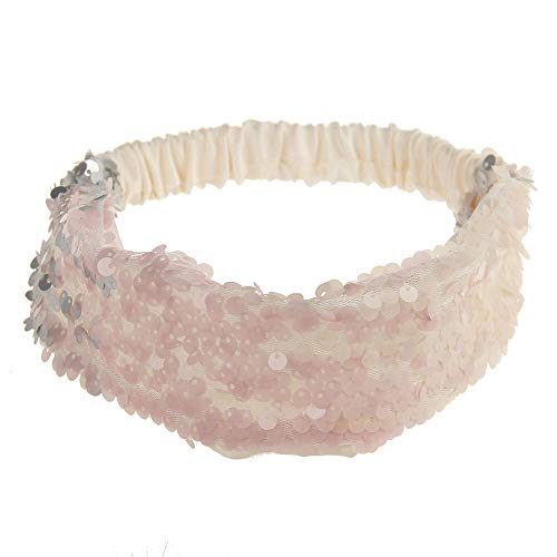 Dorical Haarband, Damen Bling Shining Haarband mit Pailletten Elastic Sports Yoga Stirnband Haarband...