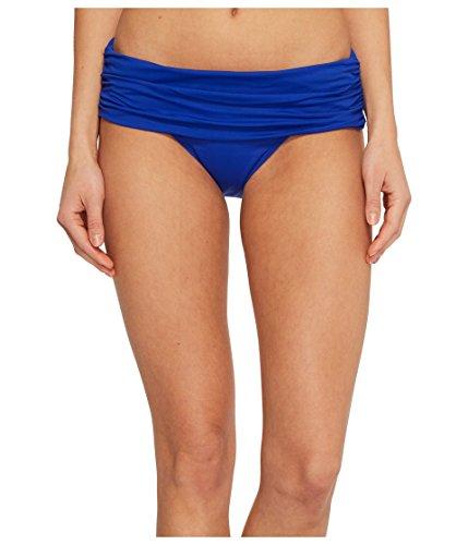 Lauren Ralph Lauren Damen Beach Club Solids breites Shirred Banded Hipster Bottom - blau - 38 -