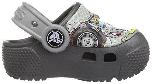 Crocs Fun Lab Lights Clog K, Sabot Bambino Grigio (Monster Truck/Graphite)