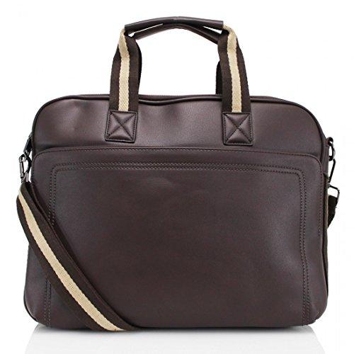Ydezire® di alta qualità da uomo donna Business valigetta laptop lavoro custodia di trasporto borsa borsone New Coffee