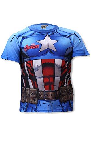Avengers Kapitän America Ironman Hulk Jungen Kostüm-Druck-T-Shirt Top Alter 3 bis 8 ()