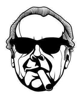 Jack Nicholson Sonnenbrille Zigarre 15cm Aufkleber ohne Hintergrund von SUPERSTICKI® aus Hochleistungsfolie für alle glatten Flächen UV und Waschanlagenfest Tuning Profi Qualität Auto KFZ Scheibe Lack Profi-Qualität