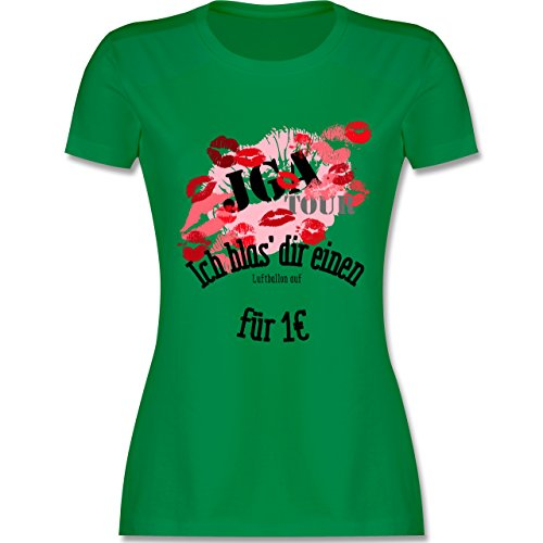 JGA Junggesellinnenabschied - JGA Tour - Ich blas dir einen Luftballon auf - tailliertes Premium T-Shirt mit Rundhalsausschnitt für Damen Grün