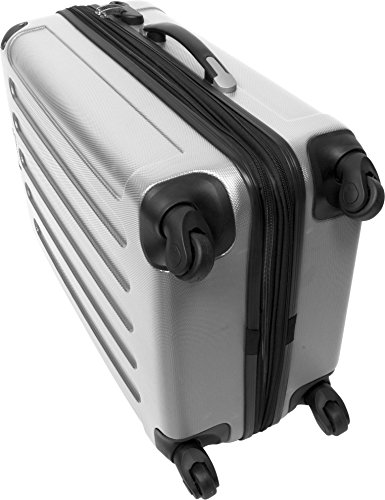 normani ABS Hartschalen Koffer Set Ausführungen Farbe Silber - 4