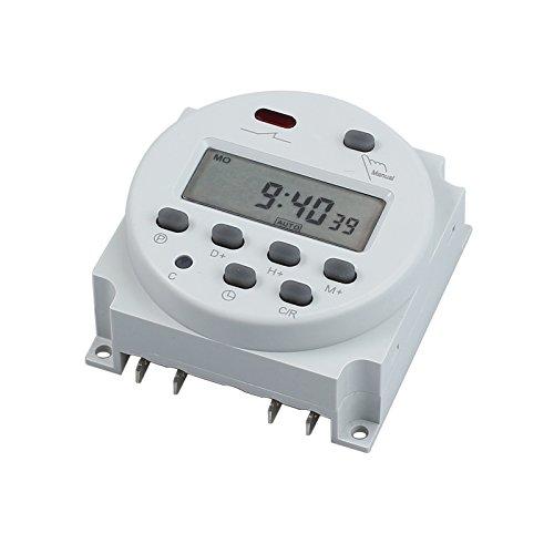 Zeitschaltuhr DC/AC 12V 16A LCD Digital-Display Programmierbar Timer OVP Neu DE