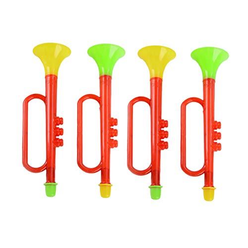 YeahiBaby Hand Große Air Horn Pumpe Laute Krachmacher für Party Favors Sportveranstaltungen 4 Stücke (Zufällige Farbe)
