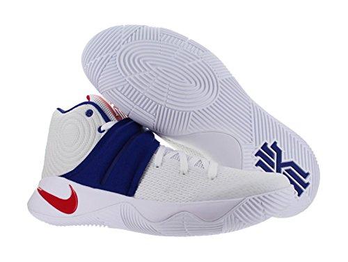 Nike Herren Kyrie 2 Basketballschuhe, 41 EU Weiß (Weiß (weiß/university red-deep royal blue))