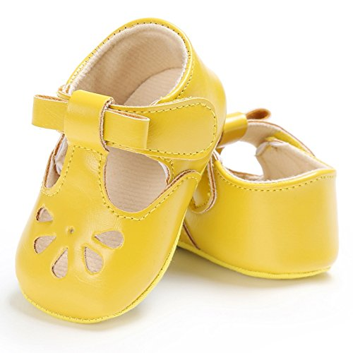 MiyaSudy Kleinkind Babyschuhe Baby Mädchen Sommer Schuhe Hohl Weichen Sohlen Erste Wanderer Gelb