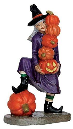 Lemax - Delicate Balance - Hexe mit Kürbissen - Spooky Town - Polyresin - Figuren & Zubehör für Halloween