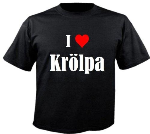 """T-Shirt """"I Love Krölpa"""" für Damen Herren und Kinder ... in den Farben Schwarz Weiss Pink Schwarz"""