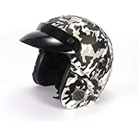 Casco del Motorista De Harley-Davidson, Casco Retro Hecho A Mano De La Motocicleta, Casco con La Máscara, Casco De La Bici De Montaña,A