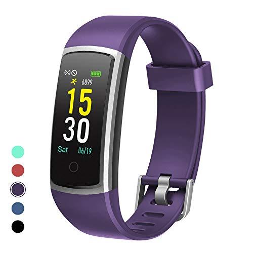moreFit Orologio Fitness Tracker Pressione sanguigna cardiofrequenzimetro Outdoor Corsa e Ciclismo Sport Watch Schermo a Colori Impermeabile IP68 Smartwatch per Uomo Donna Viola