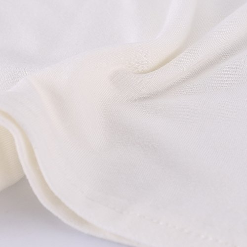 ISASSY - Débardeur - Avec nœud - Uni - Sans Manche - Femme Blanc 151