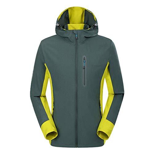 AZZRA Herren Winter Kapuzen Softshell Winddicht Wasserdicht Soft Coat Shell Jacke Regenmantel Leichte Regenjacke Outdoor Atmungsaktive Dünne Casual - Mods Und Rocker Kostüm