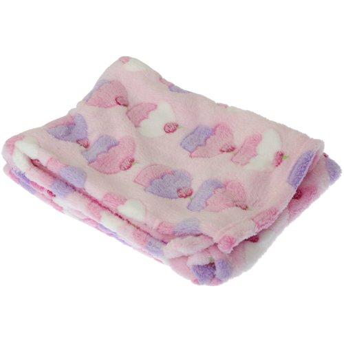Couverture de poussette à motif Cupcake/girafe pour bébé garçon/fille (73cm x 100cm) (Rose/Cupcake)
