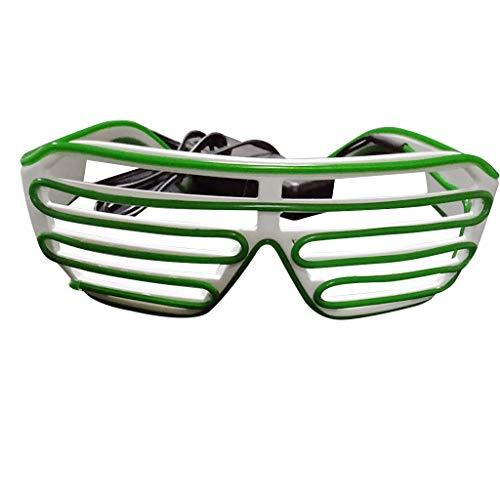 WUDUBE EL Draht Neon Wire Leuchtbrille LED Partybrille Sonnenbrille für Weihnachts Dekoration, Neujahr Club, Bar Disko, Kostüm Konzert Rave