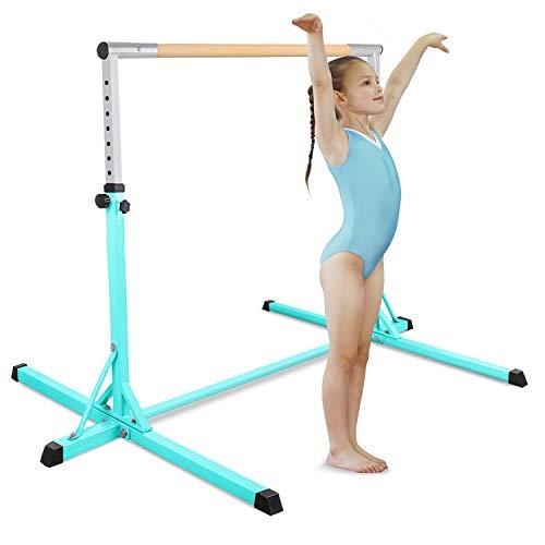 FBSPORT Gymnastics Reck Gymnastics Garden Bar für Kinder Kinder Home Gym Ausrüstung High Rod Gymnastics Adjustable Horizontal (Green)