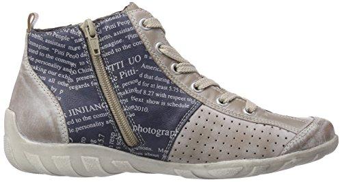 Remonte Damen taupe steel 42 Hohe Braun denim R3470 Sneakers rAZ6qrR