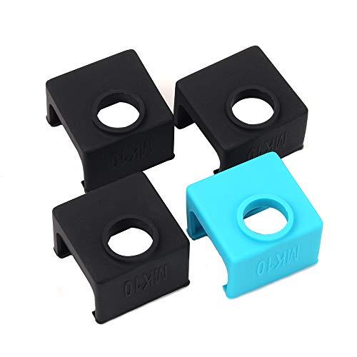 3D Drucker Teile und Zubehör, FYSETC 3D MK10 Silikon Socken Heizblock Silikon Abdeckung für Wanhao Prusa Mendal Extruder Düse, Schwarz, 3