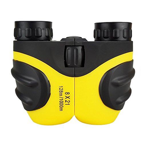 Kompakt Fernglas Kinder, DMbaby 8 x 21 Feldstecher für Vogelbeobachtung, Reisen, Sightseeing, Klettern, Outdoor Gelb DL03