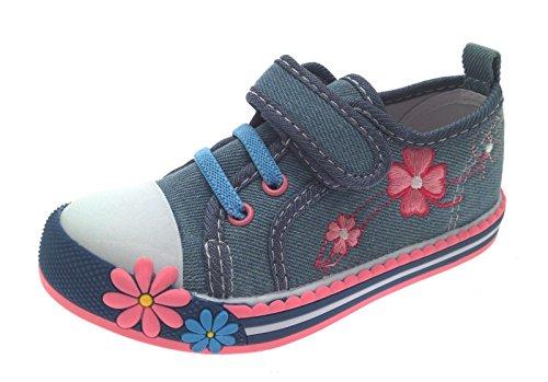 Lora Dora Baskets/Baskets Montantes - Tissu/Velcro/Lacet - Motif Fleur - Fille