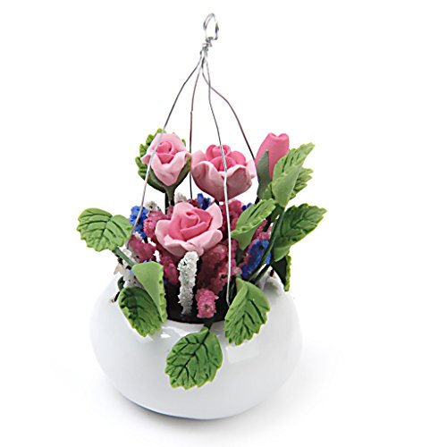 Argilla Rosa Bianca Vaso Di Ceramica Consegna 12 Bambole In Miniatura