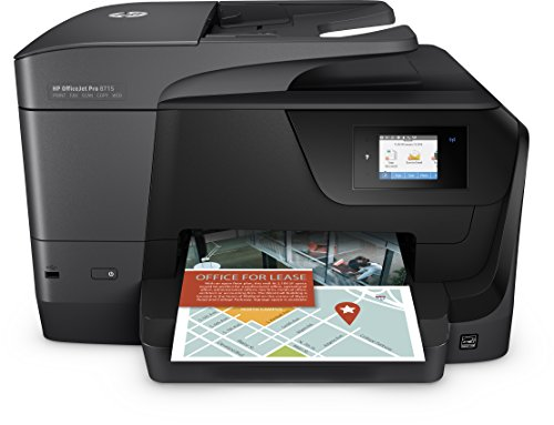 HP OfficeJet Pro 8715 Multifunktionsdrucker (A4, Drucker, Scanner, Kopierer, Fax, Instant Ink, WLAN, LAN, Duplex, ePrint, Airprint, Cloud Print, USB, 1200 x 1200 dpi) schwarz