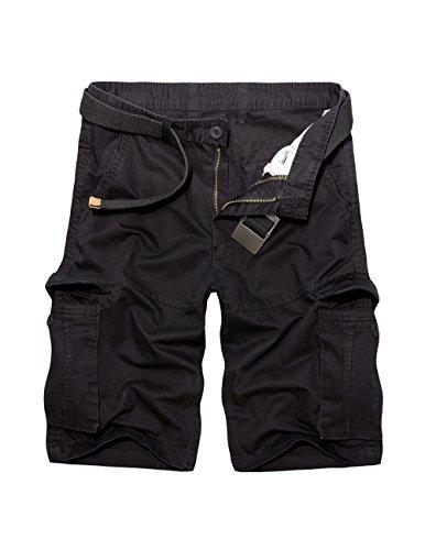 Canvas-loose-fit-jeans (Menschwear Herren Vintage Cargo Shorts Bermuda Kurze Hose Sommer Kurze Hose (40, Schwarz))
