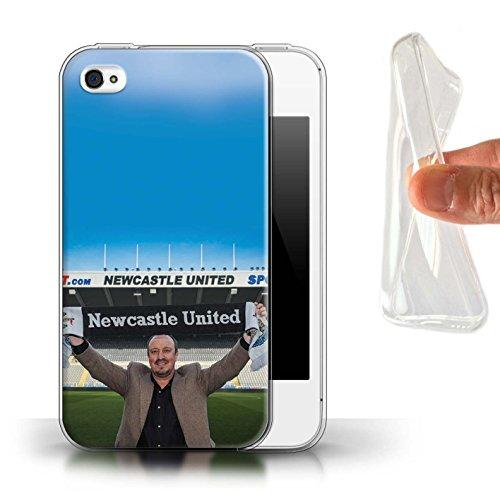 Offiziell Newcastle United FC Hülle / Gel TPU Case für Apple iPhone 4/4S / Pack 8pcs Muster / NUFC Rafa Benítez Kollektion Willkommen