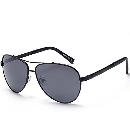 GCR Sonnenbrille Schatten Polarisierende Brille Klassische Sonnenbrille Designer-Sonnenbrillen Für Damen Und Herren Sonnenbrillen Metall , 3 (Kaffee Justin Damen)
