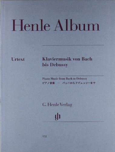 Piano Music from Bach to Debussy - piano - (HN 951) - 9790201809519