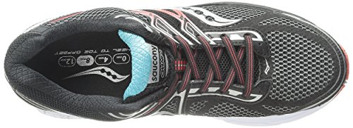 Saucony Mens Hurricane ISO Running Shoe Black/Teal/Red