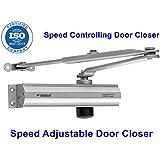 MADHULI R-World Hydraulic Door Closer Heavy Duty Aluminum Hydraulic Door Closer 1-Year PC to PC (Range of Door Closers Available:)