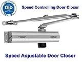 TNL R-World Aluminium Hydraulic Door Closer, Standard, Silver Metallic