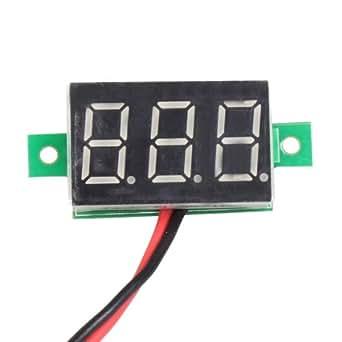 Absolute Native Electronics Mini 0.36 Digital Voltmeter DC 4.7-32V 2 Wires Vehicles Motor Voltage Panel Meter LED Display Color : Red