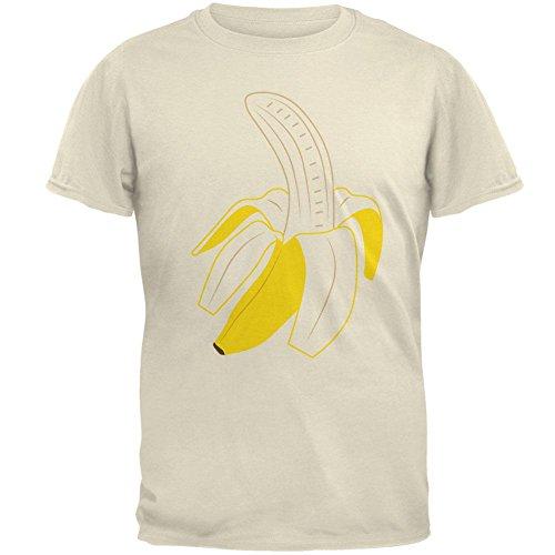 Halloween Obst geschälte Banane Kostüm Herren-T-Shirt natürliche MD (Halloween Obst Kostüme)