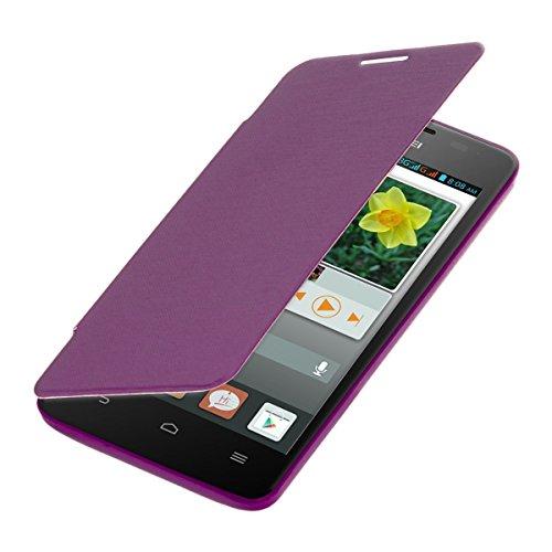 kwmobile Flip Case Hülle für Huawei Ascend G520 / G525 - Aufklappbare Schutzhülle Tasche im Flip Cover Style in Violett