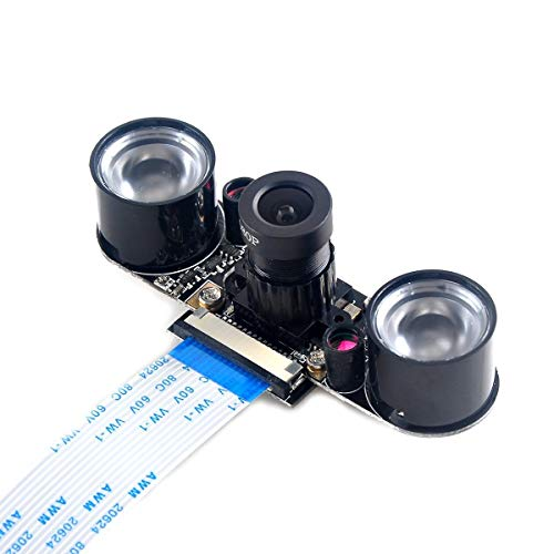 MakerHawk Raspberry PiKamera Nachtsicht-Kamera einstellbar-Fokus-Modul 5MP OV5647 Webcam Video 1080p für Himbeer-pi 2 Himbeer-pi 3 Modell B Modell B + -