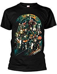 Marvel Official Men's Unisex Avengers Infinity War Team Characters T-Shirt