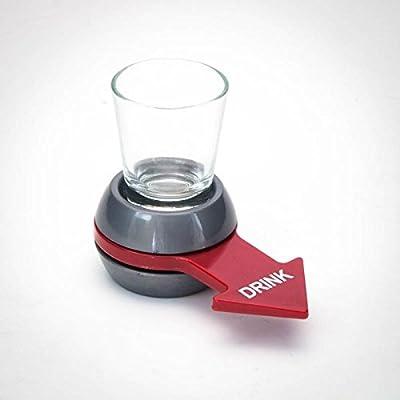"""Jeu à boire flèche """"Spin a Shot"""" (verre shot inclus) pour fêtes, soirées, bar..."""