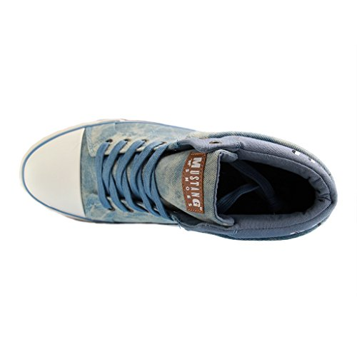 Mustang High Top Sneaker, Sneaker a collo alto donna Blau (88 hellblau)