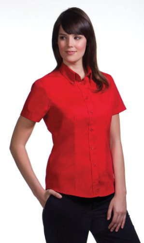 Kustom Kit - Ladies Corporate Oxford Bluse Red