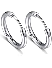 4169a1e81 Titanium Steel Stud Earrings for Men Women Hoop Earring