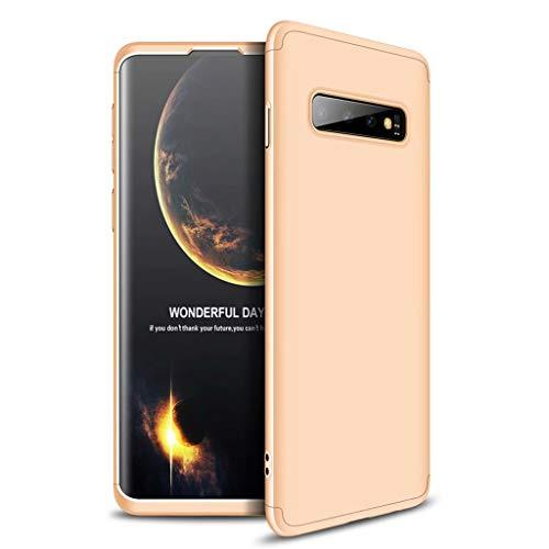 Lanpangzi Compatible con Funda Xiaomi Redmi Go Case Caso 3 in 1 Carcasa Todo Incluido Anti-Scratch Case Cover Protectora de teléfono para Xiaomi Redmi Go (Oro Rosa)