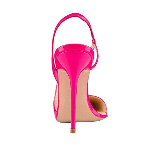 Kolnoo Damen High Heel Pumps Pointed Toe Slingback Damenschuhe Große Größe Rose