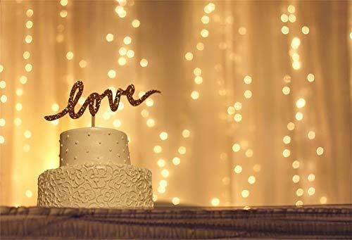 Cassisy 1,5x1m Vinyl Valentine Fotohintergrund Romantisches Innendekor Liebe Cake Sparkle Pailletten Fotoleinwand Hintergrund für Fotostudio Requisiten Party Liebhaber Photo Booth