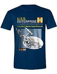404a9432e Star Trek Men s USS Enterprise Haynes Manual Crew Neck Short Sleeve T-Shirt