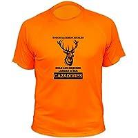 Camisetas personalizadas de caza, Todos nacemos iguales, Ciervo - Ideas regalos (30129, Naranja, XXL)