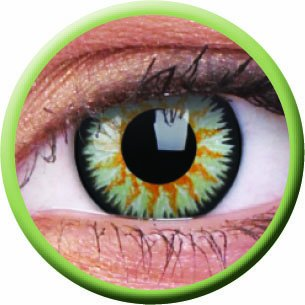 Colourvue Colorvue Glamour Green Monatslinsen, 2 Stück/BC: 8.6 mm/DIA: 14.0/0,00 Dioptrien/Farbe: green